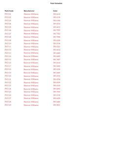 131112 Paint Schedule