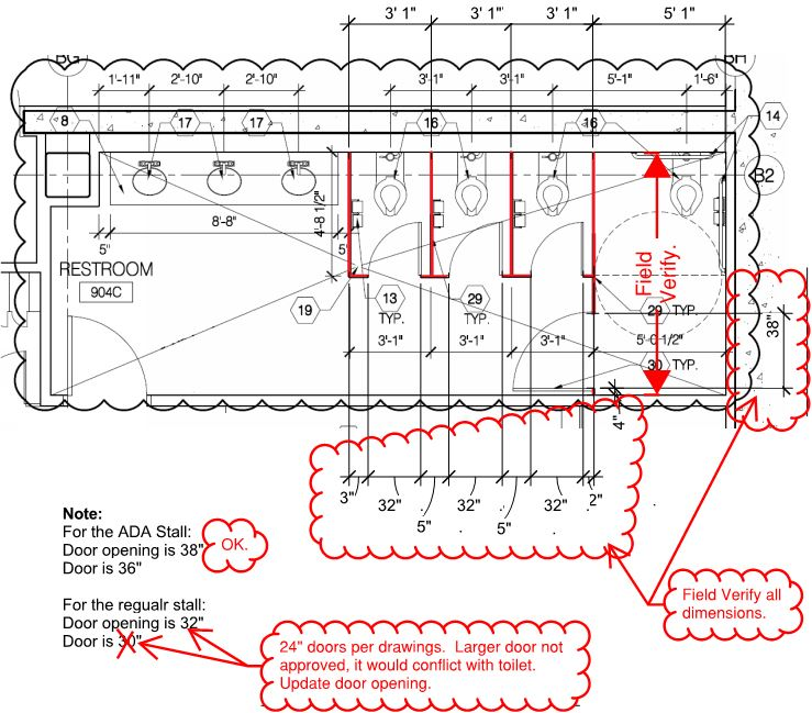 restroom space planning ada design shadow