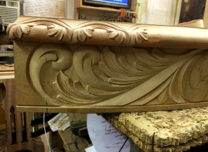 design shadow table skirt and corner carving